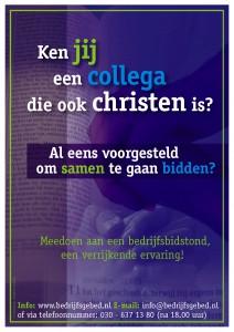 bijbel blauw poster bedrijfsbidstond