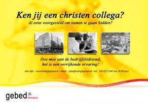 gele poster bedrijfsgebed