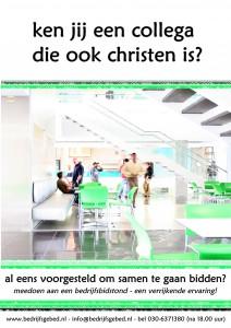 kantine groen poster bedrijfsbidstond